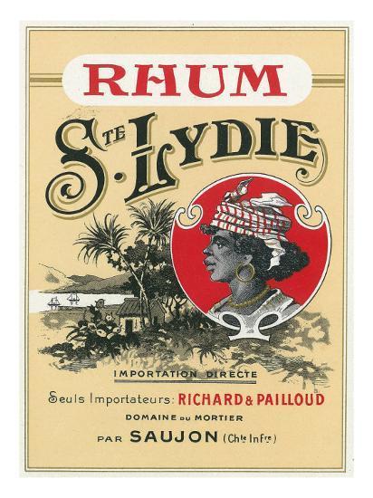 Rhum Ste. Lydie Brand Rum Label-Lantern Press-Art Print