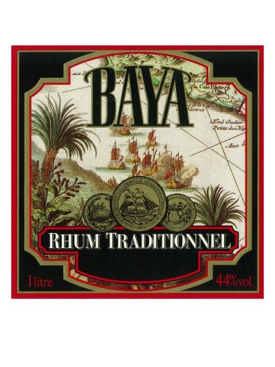 Rhum Traditionnel Baya Brand Rum Label-Lantern Press-Art Print