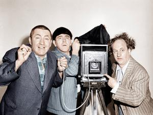RHYTHM AND WEEP, from left: Curly Howard, Moe Howard, Larry Fine, (aka The Three Stooges), 1946