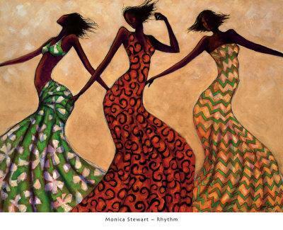AFRICAN AMERICAN ART Graceful Motion II Monica Stewart