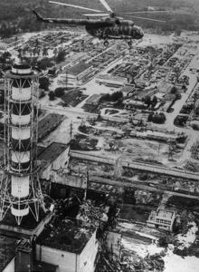 Aerial View of Chernobyl Soon After the Accident. by Ria Novosti
