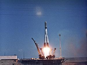 Launch of Vostok 1 by Ria Novosti