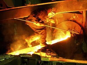 Metalworks Foundry Worker by Ria Novosti