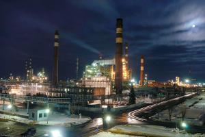 Petrochemical Factory At Night by Ria Novosti