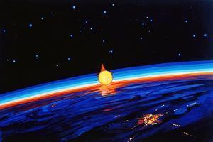 Sunrise In Space' by Leonov by Ria Novosti