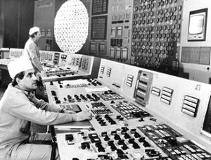 Technicians In the Control Room At Chernobyl by Ria Novosti