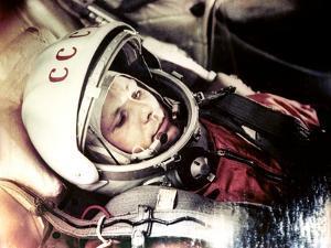 Yuri Gagarin Onboard Vostok 1 by Ria Novosti