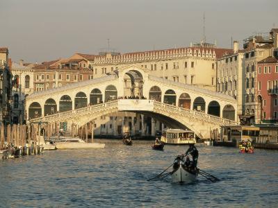 Rialto Bridge and the Grand Canal, Venice, Unesco World Heritage Site, Veneto, Italy, Europe-Sergio Pitamitz-Photographic Print