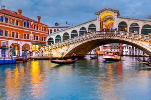 Rialto Bridge at Dusk Venice