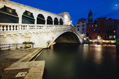 Rialto Bridge At Night, Venice, Italy-George Oze-Photographic Print