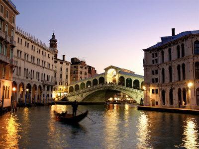Rialto Bridge, Grand Canal, Venice, Italy-Alan Copson-Photographic Print
