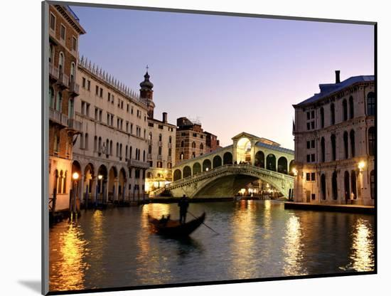 Rialto Bridge, Grand Canal, Venice, Italy-Alan Copson-Mounted Photographic Print