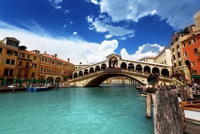Rialto Bridge In Venice, Italy-Iakov Kalinin-Art Print
