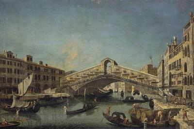 Rialto Bridge in Venice-Michele Marieschi-Giclee Print