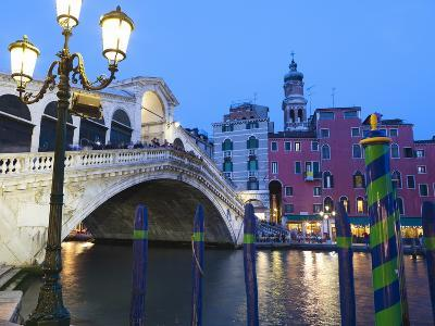 Rialto Bridge on the Grand Canal, Venice, UNESCO World Heritage Site, Veneto, Italy, Europe--Photographic Print