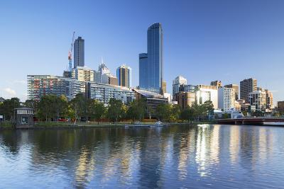 Rialto Towers and Skyline Along Yarra River, Melbourne, Victoria, Australia, Pacific-Ian Trower-Photographic Print