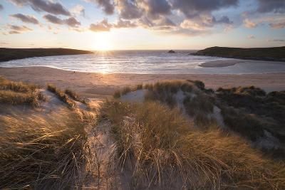 Ribbed Sand and Sand Dunes at Sunset, Crantock Beach, Crantock, Near Newquay, Cornwall-Stuart Black-Photographic Print
