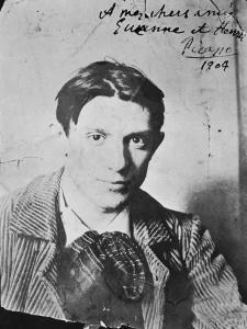 """Picasso à Paris (photographie dédicacée """"à mes chers amis Suzanne et Henri Bloch"""") by Ricardo Canals y Llambi"""