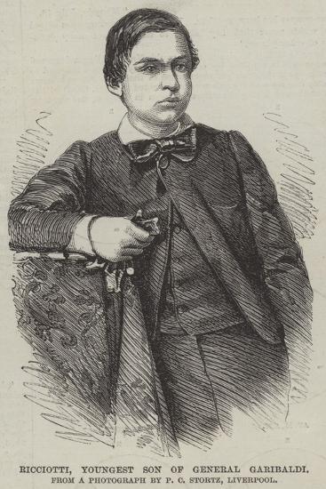Ricciotti, Youngest Son of General Garibaldi--Giclee Print