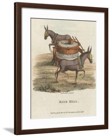 Rice Mill, 1813--Framed Giclee Print