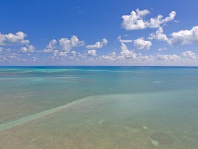 Rich Blue Hues in Sky and Waters Off the Florida Keys-Mike Theiss-Photographic Print