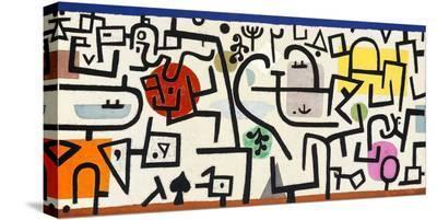 Rich Harbour (detail)-Paul Klee-Stretched Canvas Print