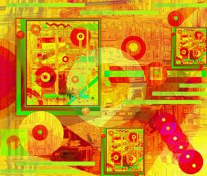 Abstract of Circles and Beads by Rich LaPenna