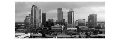 Black and White Skyline of Downtown Tampa