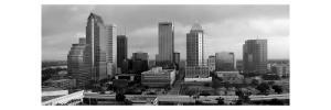 Black and White Skyline of Downtown Tampa by Rich LaPenna
