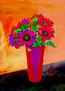 Flowers in Vase Illustration by Rich LaPenna