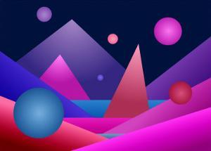 Layers of Geometric Forms by Rich LaPenna