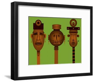 Men and Women Totem in African Masks