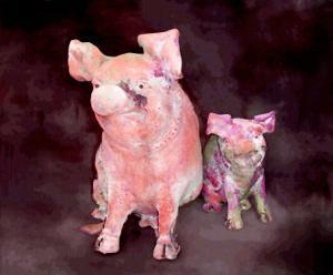 Pig and Piglet Statues by Rich LaPenna
