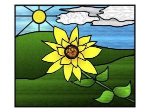 Stained Glass Sunflower by Rich LaPenna