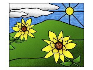 Stained Glass Sunflowers in the Sun by Rich LaPenna