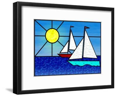 Two Sailboats Face the Sun