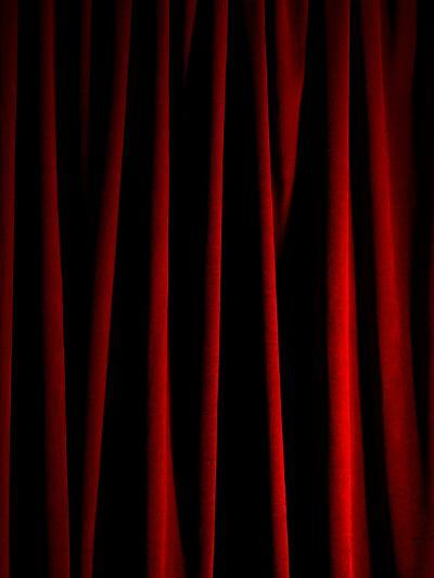 Rich Red Curtain-Graeme Montgomery-Photographic Print