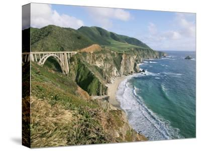 A View of Bixby Bridge on Hwy 1, Along Californias Big Sur Coast