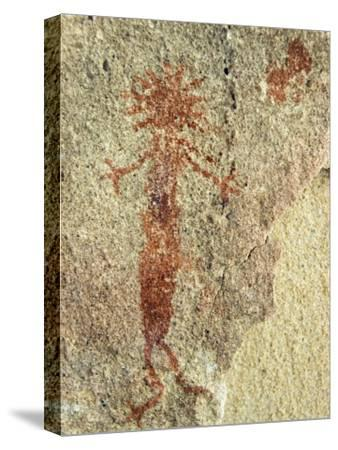 An Anthropomorphic Chumash Pictograph Above a Cave Entrance