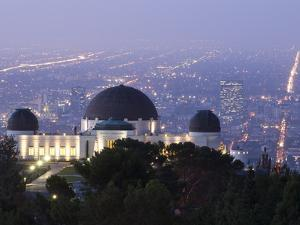 Dawn at Los Angeles and the Griffith Observatory from Mount Hollywood by Rich Reid