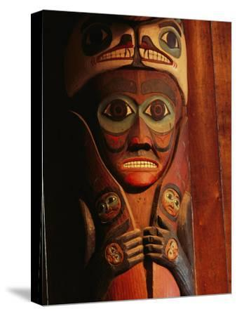 Detail of House Post in the Totem Bight Clan House