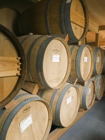 French Oak Barrels of Wine at Midnight Cellars Winery in Paso Robles, California by Rich Reid