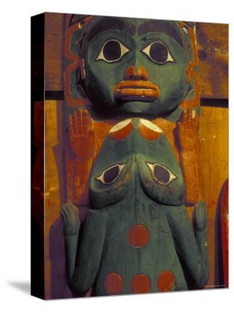 Frog and Face Totem Pole, Alaska