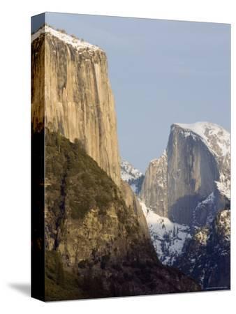 Half Dome and el Capitan from the Wawona Tunnel in Winter, Yosemite, California
