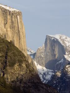 Half Dome and el Capitan from the Wawona Tunnel in Winter, Yosemite, California by Rich Reid