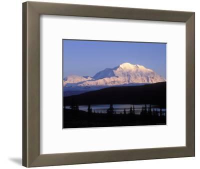 Midnight Alpenglow on Mount Mckinley Reflecting in Wonder Lake, Alaska