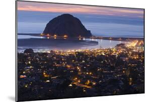 Morro Bay and Morro Rock at Dusk From Black Hills by Rich Reid