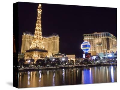 Reflections of Las Vegas Boulevard, the Strip, and the Paris Casino