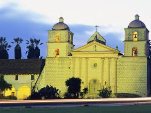 Sunset on the Santa Barbara Mission by Rich Reid