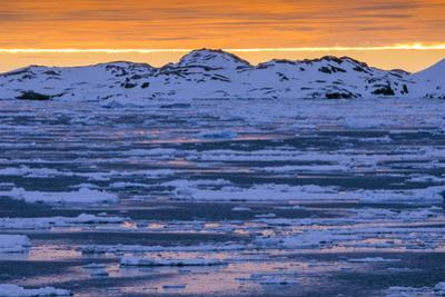 Sunset over Lemaire Channel on the Antarctic Peninsula by Rich Reid